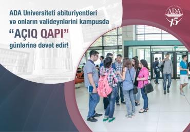 """ADA Universitetində """"Açıq qapı"""" günləri başlayır"""